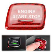 Red Real Carbon Fiber Engine Start Push Start Button Cover For 16+ Chevy Camaro