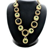 Suzannesomers Beautiful Set Necklace And Earrings Crystal Green