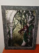 Nene Thomas Direwood Print Limited Edition Signed 1097/2000 Green Arch Red Hair