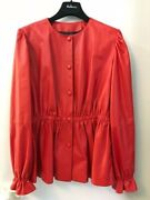 Mulberry Made In Italy Women's Extra Soft Fine Lamb Leather Jacket In Red
