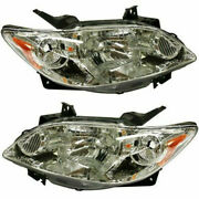 New Set Of 2 Lh And Rh Side Head Lamp Lens And Housing Fits 04-06 Mazda Mpv