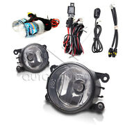 Fit Lincoln 05-06 Ls 08-12 Navigator Fog Lights W/wiring Kit And Hid Kit - Clear