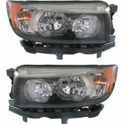 New Set Of 2 Left And Right Side Halogen Headlamp Assembly Fits Subaru Forester