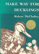 Robert Mccloskey / Make Way For Ducklings Signed 1985