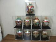 9 +2 Department 56 Decorated Glass Egg Christmas Ornaments 3