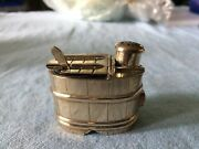 Vintage Sterling Silver/ Salt Cellar And Pepper Shaker W/ Small Cellar Spoon