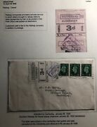 1939 Aldershot England Cover To Camberley Southern Railway Parcel Stamp Fee