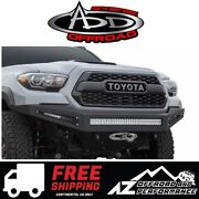 Add Honeybadger Winch Front Bumper For 2016-2021 Toyota Tacoma
