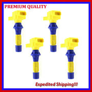 4pc High Performance Ignition Coil Jmd2873y For Mazda Cx-7 2.3l L4 2007 2008