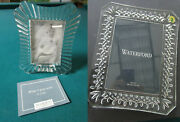 Waterford Crystal Picture Frames Nib Original Pick One 1-