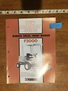 Kubota Diesel Front Mower F2000 New Product Guide Catalog - 9 Pages
