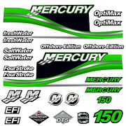 Mercury 150 Four 4 Stroke Decal Kit Outboard Engine Graphic Motor Merc Green