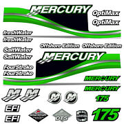 Mercury 175 Four 4 Stroke Decal Kit Outboard Engine Graphic Motor Merc Green