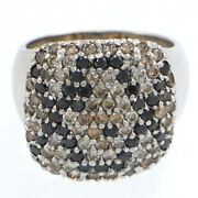 Barry Kronen Python Collection White Champagne Black Diamond Pave Cluster Ring