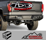 Add Stealth Fighter Rear Bumper For And03919-and03921 Chevy Gmc Silverado Sierra 1500