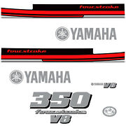 Yamaha 350 Four Stroke Die Cut Decals Outboard Engine Graphics Motor 350hp Red