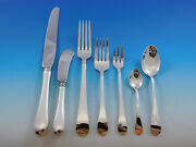 Hannah Hull By Tuttle Sterling Silver Flatware Set For 12 Service 92 Pcs Dinner
