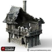 The Lost Islands - Ruined Port House 15mm 28mm 32mm Wargaming Terrain Dandd Sigmar