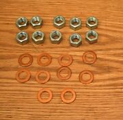 1955 56 57 58-64 Chevy Rear End Differential Copper Washer And Nut Set Usa Made