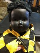 Rare Antique Convert And Company Celluloid African Doll