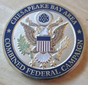 Chesapeake Bay Area Combined Federal Campaign Cfc Challenge Coin Medal