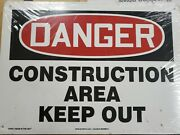 Danger Sign -construction Area Authorized Personnel - 30-10x14 Osha Safety Signs