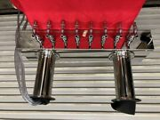 New 8 Tap Draft Beer Twin Tower Double Post 30 Micromatic Dpt48pss 2530 Faucet