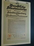 German Wwii Gov Savings Bond 1937 500rm And Bmw 1942 1000rm Great Condition