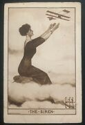 Mint Usa Early Aviation Advertising Postcard The Siren
