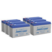 Power-sonic 12v 7ah Battery Replacement For Humminbird Fishfinder 570 - 6 Pack