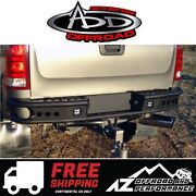 Add Dimple R Rear Bumper Black For 07-10 Chevrolet Silverado 2500 3500