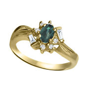 Alexandrite Ring- Color Change Natrual Alexandrite Set 14k Gold With Certificate