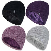 Heat Holders - Womens Thick Loose Knit Style Fleece Lined Thermal Beanie Hat