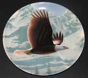 Bradford Exchange Collectible Plate The Bald Eagle Majestic Birds Series