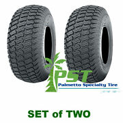 Set Of Two 18x10.50-10 Soft Turf Tires Lawn Tractor Lawn Mower Riding Mower