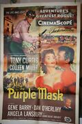 The Purple Mask Orig Movie Poster 1955 Tony Curtis Colleen Miller