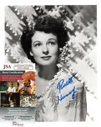 Ruth Hussey Actress Movie Star Hand Signed Autograph 8x10 Photo With Jsa Coa