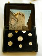 H453 San Marino 1976 Mint Coins Set Rare Exclusive For Diplomats Leather Box Rrr