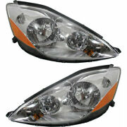 New Set Of 2 Lh And Rh Side Hid Headlamp Assembly Fits 2006-2010 Toyota Sienna