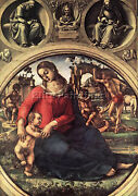 Signorelli Luca Madonna And Child Artist Painting Oil Canvas Repro Wall Art Deco