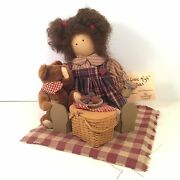 Longaberger Lizzie High Molly Doll Ladie And Friends 1998 Teddy Bear Picnic Basket