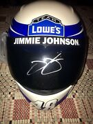 Jimmie Johnson Lowes Autograph Signed Full Size Replica 6x Helmet