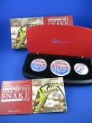 2013 Australian Lunar Series Ii Year Of The Snake. Three Coin Set Silver Proof