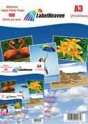 Photo Paper Self-adhesive Shiny Format And Quantity To Choose From From Label
