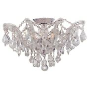 Crystorama Maria Theresa Semi Flush Mount Clear Crystal Elements 4437-ch-cl-s