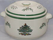 Spode Christmas Tree 2 Qt Round Covered Casserole