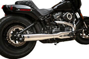 Sands Superstreet 2 Into 1 Exhaust System Pipes Headers Chrome Harley Softail 18+