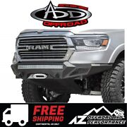 Add Stealth Fighter Front Winch Bumper Black For 2019 Ram 1500