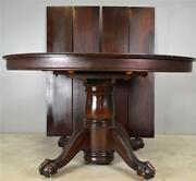 17814 Round Mahogany Ball And Claw Dining Banquet Table