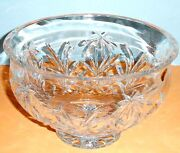 Waterford Palm Tree Footed Crystal Bowl Large 10 Made Ireland 150043 New Boxed